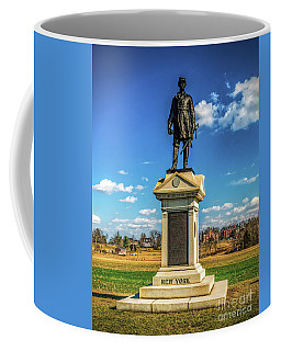 Coffee Mug featuring the photograph General Abner Doubleday - Gettysburg National Park by Nick Zelinsky