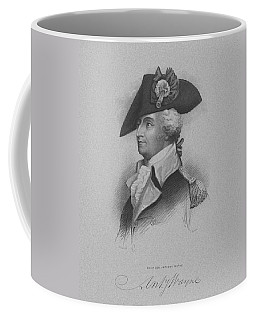 Coffee Mug featuring the mixed media General Anthony Wayne by War Is Hell Store