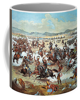 General Custer's Last Stand At Battle Of Little Bighorn, June 25, 1876 Coffee Mug