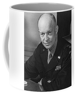 Coffee Mug featuring the photograph General Dwight Eisenhower by War Is Hell Store