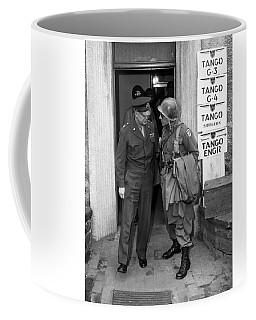 Coffee Mug featuring the photograph General Eisenhower And General Ridgway  by War Is Hell Store