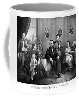 Coffee Mug featuring the mixed media General Grant And His Family by War Is Hell Store