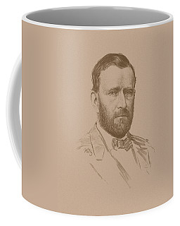 Coffee Mug featuring the mixed media General Ulysses S Grant by War Is Hell Store