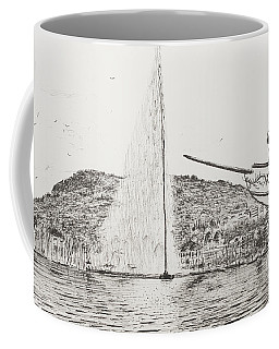 Geneva  Fountain And Bow Of Pleasure Boat Coffee Mug