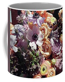 Gentle Purple Flowers Bouquet Coffee Mug