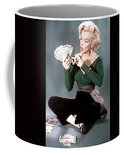 Coffee Mug featuring the painting Gentlemen Prefer Blondes Movie Art Staring Marilyn Monroe by R Muirhead Art