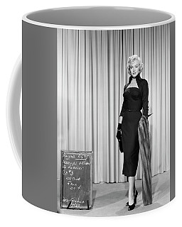 Coffee Mug featuring the photograph Gentlemen Prefer Blondes Staring Marilyn Monroe by R Muirhead Art
