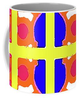 Geo Series - Bright One Coffee Mug by Beth Saffer