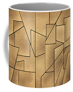 Geometric Abstraction IIi Toned Coffee Mug