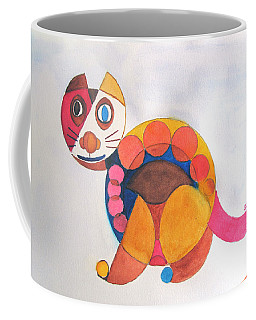 Geometric Cat Coffee Mug