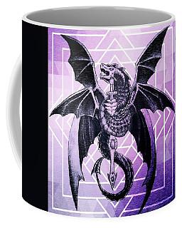 Geometric Dragon Design Coffee Mug