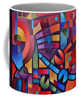Coffee Mug featuring the painting Geometric Music by Jason Williamson
