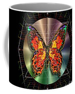 Coffee Mug featuring the digital art Geometron Fyr Lepidoptera by Iowan Stone-Flowers
