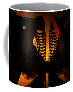 Geometry In Steel Coffee Mug