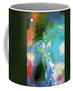 George Benson  Watercolor Portrait  Coffee Mug