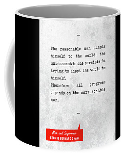 George Bernard Shaw Quotes - Man And Superman - Literary Quotes - Book Lover Gifts - Typewriter Art Coffee Mug