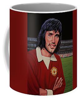 George Best Painting Coffee Mug by Paul Meijering