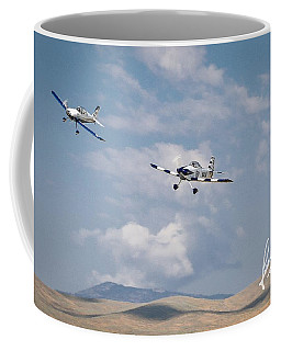 Coffee Mug featuring the photograph George Ford And Matt Beaubien In Friday Morning's Sport Class 5x7 Aspect Signature Edition by John King