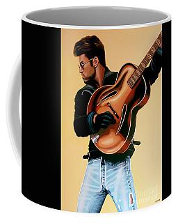 George Michael Painting Coffee Mug by Paul Meijering