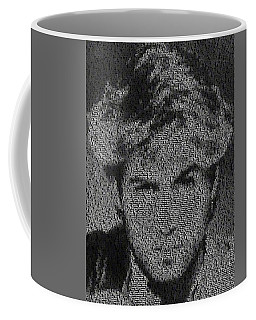 Coffee Mug featuring the photograph George Michael Song List Mosaic by Paul Van Scott