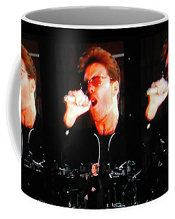 George Michael The Passionate Performer Coffee Mug by Toni Hopper