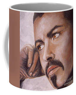 Up Close George Michael  Coffee Mug