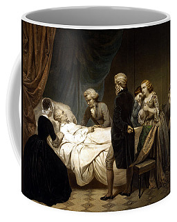 Coffee Mug featuring the painting George Washington On His Deathbed by War Is Hell Store