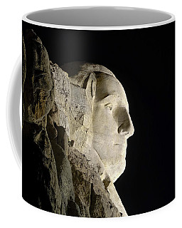 George Washington Profile At Night Coffee Mug by David Lawson