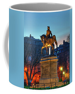 Coffee Mug featuring the photograph George Washington Statue In Boston Public Garden by Joann Vitali