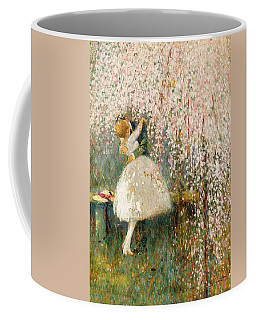 Georges Picard French 1857 1946 Romance Under The Blossom Tree Coffee Mug
