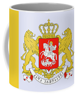 Coffee Mug featuring the drawing Georgia Coat Of Arms by Movie Poster Prints