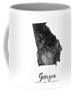 Georgia State Map Art - Grunge Silhouette Coffee Mug