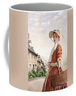 Georgian Period Woman Coffee Mug by Lee Avison