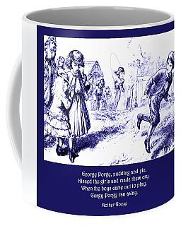 Georgy Porgy Mother Goose Illustrated Nursery Rhyme Coffee Mug