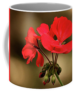 Geranium Blooms Coffee Mug by Sheila Brown
