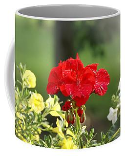 Coffee Mug featuring the photograph Geranium by Heidi Poulin