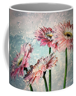 Gerbera Daisies With A Splash Coffee Mug