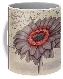 Gerbera Flower Gone Grey Coffee Mug