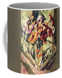 Gerberas In Glass Vase Coffee Mug