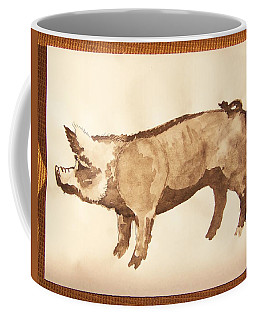 Coffee Mug featuring the photograph German Pietrain Boar 31 by Larry Campbell