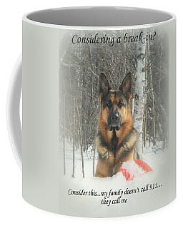 German Shepherd 911 Coffee Mug
