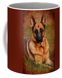 German Shepherd Dog Portrait  Coffee Mug