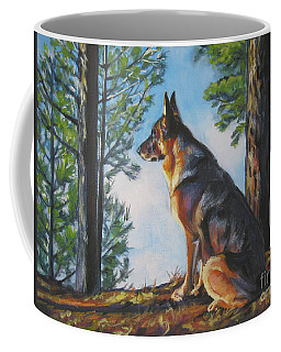 German Shepherd Lookout Coffee Mug