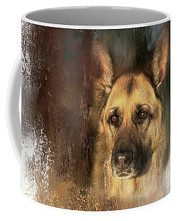 German Shepherd Portrait Color Coffee Mug
