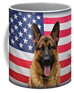 German Shepherd - U.s.a. - Text Coffee Mug by Sandy Keeton
