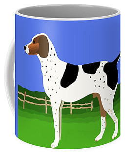 German Shorthaired Pointer In A Field Coffee Mug by Marian Cates