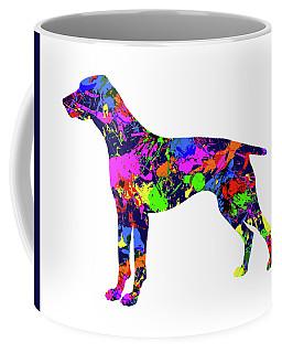 German Shorthaired Pointer Paint Splatter Coffee Mug