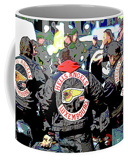 Germany Trial Hell Angels Motorcycle Club Coffee Mug