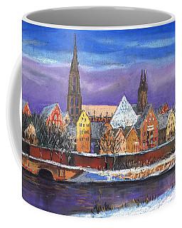 Germany Ulm Panorama Winter Coffee Mug