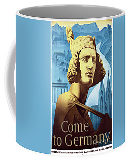 Coffee Mug featuring the mixed media Germany Vintage Travel Poster Restored by Carsten Reisinger